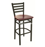 Lima Metal Ladder Back Restaurant Commercial Grade Bar Stools BFM Seating 2160B, Ships From Philadelphia, PA 19124